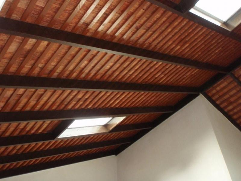 Interior Finish of Tropical Hardwood shingles with Roof membrane